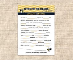 DIY Printable Madlibs for Baby Shower  Mad Libs by konadesigns, $15.00