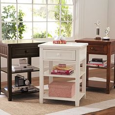 Pottery Barn Teen's Beadboard furniture is a classic look that will never go out of style. Find storage beds, desks, dressers and more in multiple colors with the decorative beadboard paneling. Teen Furniture, Bedroom Furniture, Furniture Storage, White Side Tables, End Tables, Side Tables Bedroom, Bedside Tables, Bedroom Dressers, Nightstands