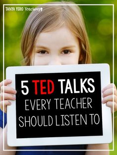 If you're a teacher looking for some quick professional development, TED Talks are a perfect tool! Designed to be quick yet informative read about 5 Ted Talks that are perfect for teachers trying to make a difference! Ted Talks For Teachers, Ted Talks Education, Teacher Education, New Teachers, School Teacher, Teacher Resources, Physical Education, Science Education, Special Education