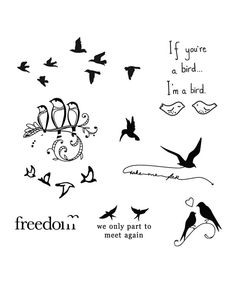Look at this Bird is the Word Tattoos - Set of Two on #zulily today!
