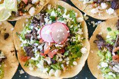 Baked carne asada and guacamole tostadas. Recipe and food photography by Jackie Alpers for Edible Baja Arizona Magazine. Sonoran Summer 101.