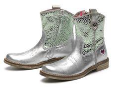 MIM-PI summer 2016 boots, funky boots, hippe kinderlaarzen www.mim-pi.com silver with green boots, groen zilveren laarzen, made in Portugal www.mimpi-online-shop.com