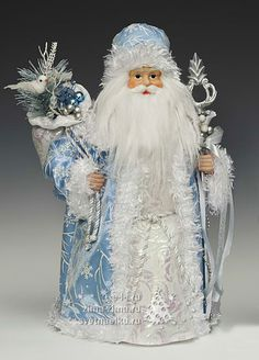 Дед Мороз в голубой шубе, 40,5 см — CH122225