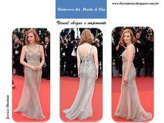 Confira look ao estilo romântico chique para se inspirar, no blog Universo da Moda & Cia.
