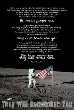 One of Diane Ravitch's readers made a poster out one of her blogposts, about Neil Armstrong's thanking of his teacher.