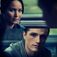 Perfect Peeta. Katniss's biggest mistake is not jumping on that quicker.look at that smolder!
