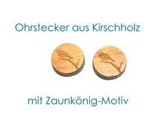 Holzohrstecker - Ohrstecker Holz Vogel - ein Designerstück von SchmuckNatur bei DaWanda