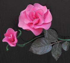 :: ozdoby :: Lucy: Róże z rajstop - instrukcja krok po kroku