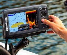 Fish finders that use sonar emit sound waves under the water and detect the sound waves that bounce back off of objects and surfaces under the water. The e