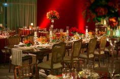 Luxo na mesa de noivos!