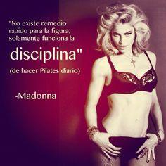 """@inspirahpilates's photo: """"""""No existe remedio rápido para la figura, solamente funciona la disciplina"""" -Madonna, hace sus #pilates diario :)"""""""