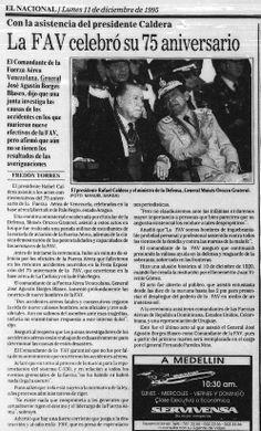 Publicado por El Nacional el día 11 de diciembre de 1995