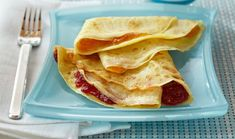 Crêpes Made these. Easy and delicious. Great with any filling. We had strawberry jam and powdered sugar and pico de gallo and cheese. Wipe pan between crepes. Let pan cool a few seconds for best results.