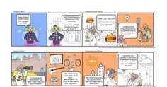I've got an idea!!! is the tittle of a comic created to teach students in a visual and attractive way contents of Science in English. It is relevant to adapt the language in CLIL lessons and provide scaffolding in order to make easier the process of learning. Created with the tool Make Beliefs Comics, it is just one example out of the many tools that we can find on the web to create comics and that can be used to teach linguistic content and contents on different non-linguistic areas.