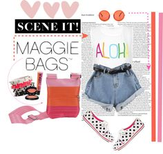 """""""Aloha Maggie Bags!"""" by ratnadwitaa ❤ liked on Polyvore"""