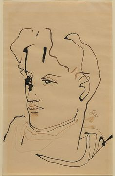 Jean Cocteau Self-Portrait Love Drawings, Art Drawings, Contour Drawings, Drawing Faces, Exhibition Film, Pattern Texture, Jean Cocteau, Selfies, My Sun And Stars