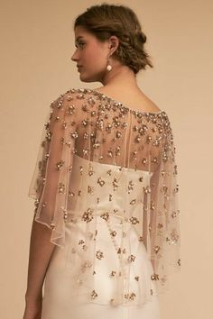 Find the perfect wedding dress cover up at BHLDN, Anthropologie's sister brand. Shop our stunning collection of vintage-inspired wedding boleros. Bridal Dresses, Bridesmaid Dresses, Prom Dresses, Cape Dress, Dress Up, Skirt Fashion, Fashion Dresses, Anthropologie Wedding, Bhldn Wedding