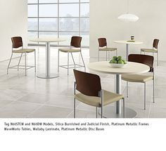 National Office Furniture - Tag Seating in cafeteria/dining space. #NationalOffice #FurnitureWithPersonality