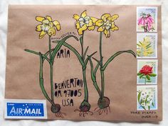 Snail mail art by Naomi Bulger