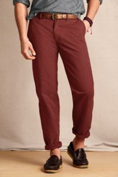 I love this color, too bad they don't come close to fitting me well...   Men's Comer 628 Straight Fit Chino from Lands' End Canvas