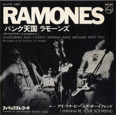 The Ramones California Sun Japanese Promo Vinyl Record California Sun The Ramones Phillips 238359 Vinyl Cover, Cd Cover, Cover Art, Album Covers, Rock N Roll, Tumblr Names, Rare Vinyl Records, Band Posters, Film Posters