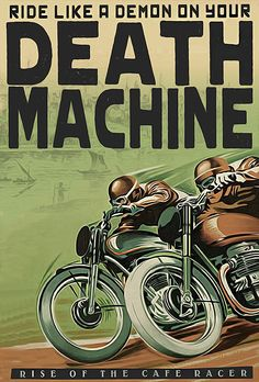 Death Machine - Dual Riders Cafe Racer #graphicdesign | caferacerpasion.com