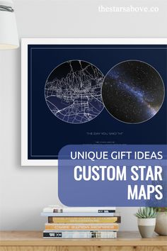 These are the perfect gifts to commemorate the most special occasions in your life. The birth of a child, a wedding or anniversary, or that first date that changed everything. #stars #night #sky Say Hi, Office Decor, Special Occasion, Unique Gifts, Map, Stars, Creative, Inspiration, Biblical Inspiration