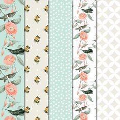 Digital Paper - Hummingbirds by Maishop on @creativemarket