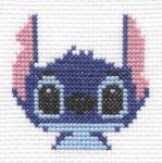Stitch from Lilo and Stitch cross stitch by Lil-Samuu