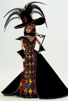 Masquerade Ball Barbie Doll - 1993 Collectible Designer Dolls - Bob Mackie - Barbie Collector