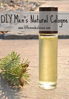 This DIY Men's Natural Cologne Spray is all natural,made with the purest essential oils,and SMELLS amazing.