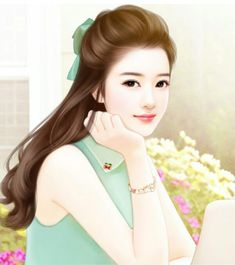 💖💙 Beauty Art, Lovely Girl Image, Girly Pictures, Cute Couple Art, Beautiful Fantasy Art, Cute Art, Cute Drawings, Digital Art Girl, Painting Of Girl