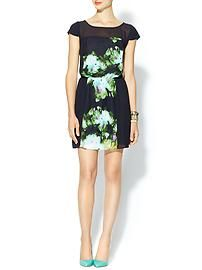 Tinley Road Printed Inset Woven Mini Dress
