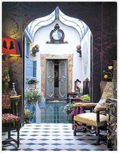 Moroccan design. The chairs!