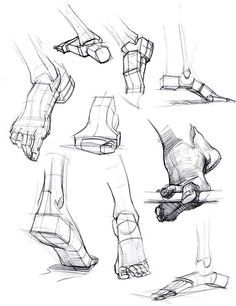 foot reference. Geometric feet! ✤ || CHARACTER DESIGN REFERENCES | Find more at…
