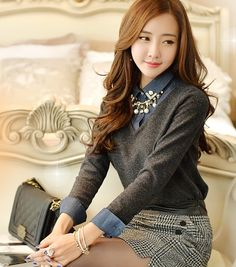 Korean Fashion, Women Fashion, Feminine Look, Classy Look, Office Look, Lovely, Romantic, High Quality, Gorgeous Look, F/W 2014,Style On Me, Louis Angel,  Winter Styling www.styleonme.com
