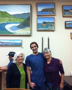 At the Country Store in Arcata with my grandmother and mother!  oilpaint   oiloncanvas d88f4713caa