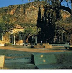 Patrick Leigh Fermor's house in Greece... he had the most wonderful life.