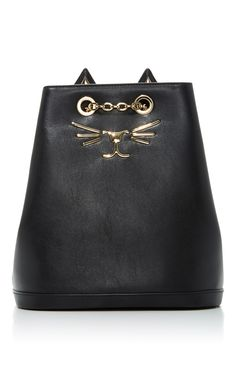 1828b0a61eadf8 Click product to zoom Charlotte Olympia, Calf Leather, Canvas Backpacks,  Clutch Bag,