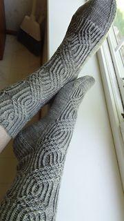 Ravelry: Scrollwork Socks pattern by verybusymonkey Loom Knitting, Knitting Socks, Hand Knitting, Knitting Patterns, Knitting Ideas, Knitted Slippers, Wool Socks, Yarn Shop, Designer Socks