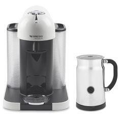 nespresso vertuoline with aeroccino plus milk frother white brews both true american coffee and - Nespresso Aeroccino