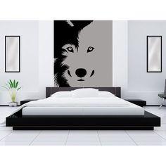 adhesivo decorativo lobo