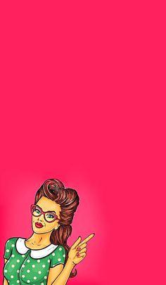 Illustration / phone wallpapers / retro / pop art girl pop art in 2019 поп- Girl Iphone Wallpaper, Pop Art Wallpaper, Wallpaper Backgrounds, Iphone Wallpapers, Art And Illustration, Farmasi Cosmetics, Pop Art Women, Pop Art Girl, Retro Pop