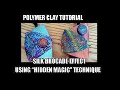 "Polymer clay tutorial - Silk brocade effect using ""hidden magic"" technique + bonus - YouTube"