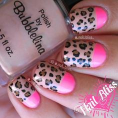 Discover new and inspirational nail art for your short nail designs. Glam Nails, Hot Nails, Fancy Nails, Beauty Nails, Beauty Makeup, Fabulous Nails, Gorgeous Nails, Pretty Nails, Leopard Nail Designs