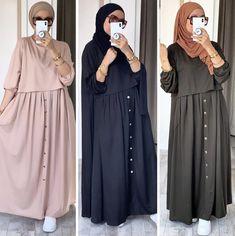 Modest Outfits Muslim, Modest Fashion Hijab, Modern Hijab Fashion, Pakistani Dresses Casual, Abaya Fashion, Muslim Fashion, Fashion Outfits, Mode Abaya, Mode Hijab