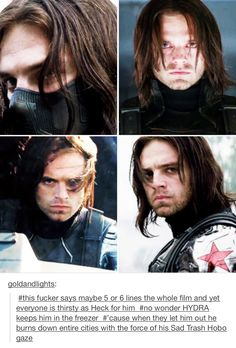 Winter Soldier- ruining womens' lives one smolder at a time.