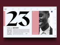 unusual editorial layout. REALLY large typeface but nice clean design