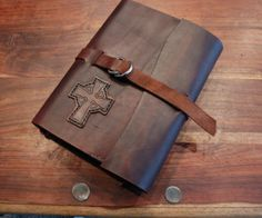 Folklander Rustic Leather Bible Cover - Craft + Lore