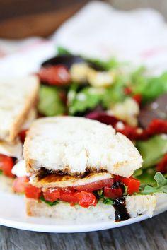 Roasted Red Pepper, Arugula, and Mozzarella Sandwich Recipe